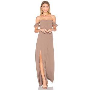 Flynn skye Bardot maxi dress - taupe